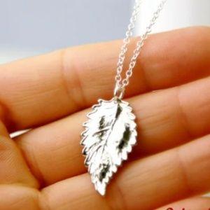 Silver Leaf Necklace/Bracelet/Anklet, Handmade 🌸